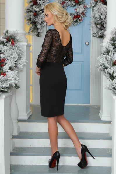 Маленькое черное платье с гипюровой спинкой