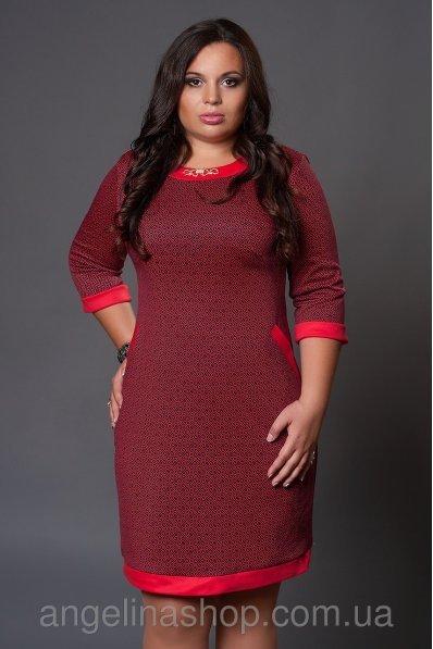 Платье с принтом Живанши красное