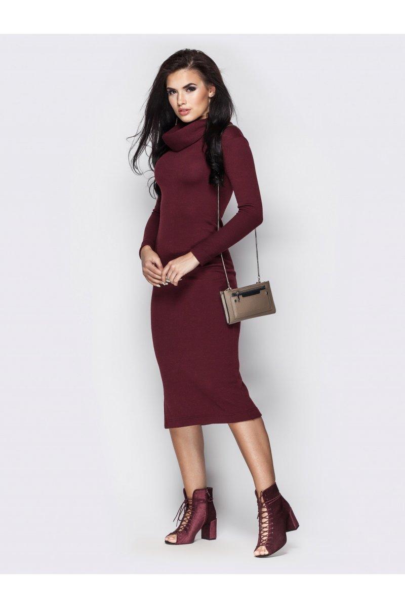 2e4bf9efb383901 Платье чулок цвета марсала