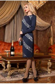Стильное платье силуэт с жакетом