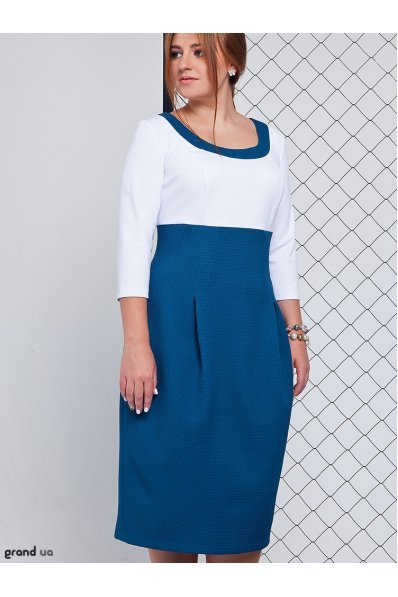 Платье тюльпан цвета аквамарин