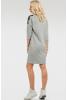 Повседневное платье мешок светло-серого цвета - фото 2