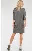 Повседневное платье мешок темно-серого цвета - фото 2