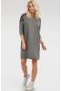 Повседневное платье мешок темно-серого цвета - фото 1