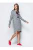 Повседневное платье с удлиненной спинкой и разрезами по бокам - фото 1
