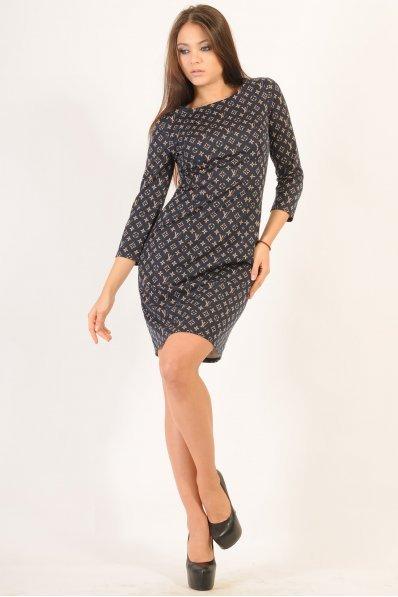 Приталенное платье с принтом Louis Vuitton