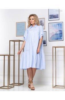 Нежное коттоновое платье-рубашка на пуговицах