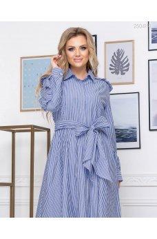 Воздушное полосатое коттоновое платье