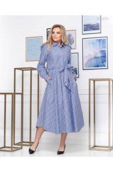 Воздушное полосатое платье