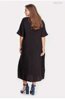 Стильное платье из муслина чёрного цвета