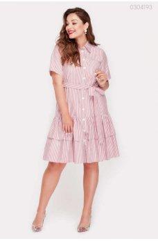 Бордовое стильное платье на пуговицах