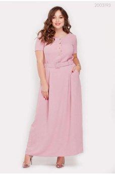 Длинное летнее платье фрезового цвета