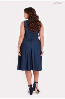 Синее джинсовое платье с поясом