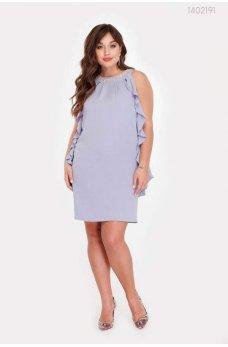 Голубое летнее нарядное платье