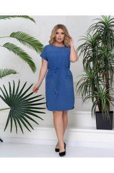 Лёгкое летнее платье цвета индиго