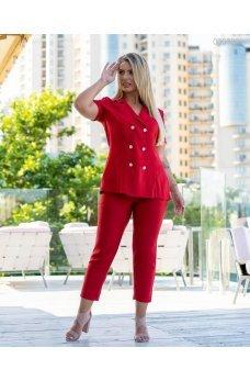 Красный розкошный брючного костюм