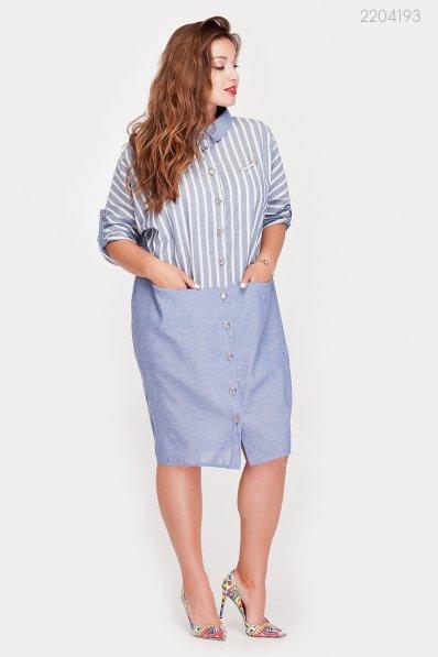 Стильное платье синего оттенка