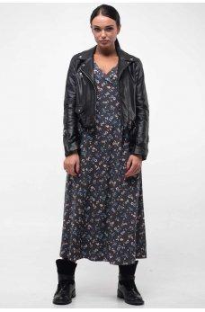 Нежное платье в бохо-стиле графитового оттенка