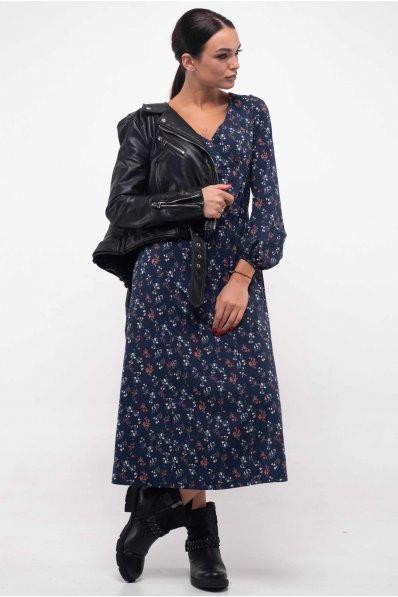 Нежное платье в бохо-стиле синего оттенка
