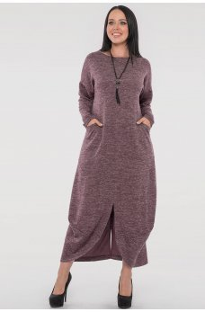 Оригинальное платье фрезового цвета