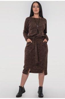 Платье футляр шоколадного цвета