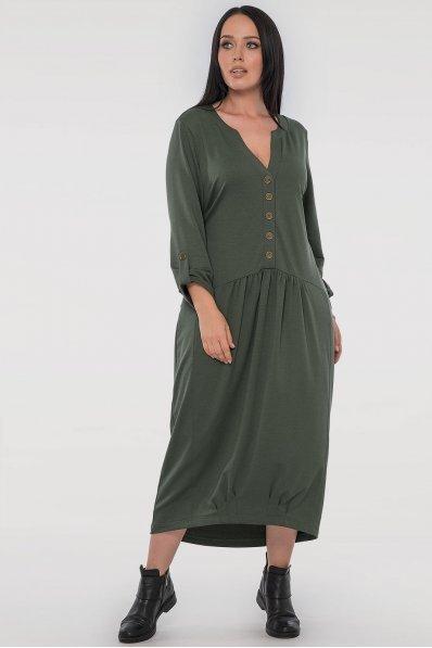 Платье оверсайз цвета хаки