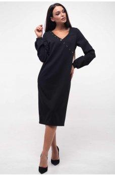 Соблазнительное платье на запАх черного цвета