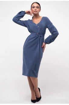 Соблазнительное платье на запАх джинсового цвета