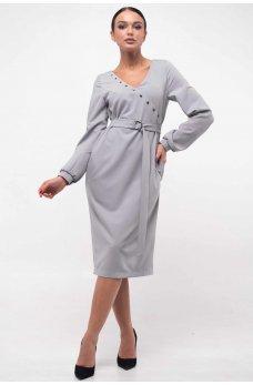 Соблазнительное платье на запАх серогого цвета