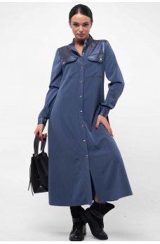 Стильное платье джинсового цвета на кнопках