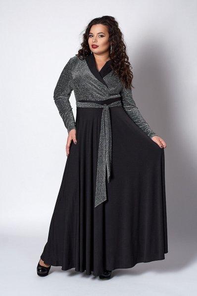 Вечернее платье изумрудного цвета с люрексом