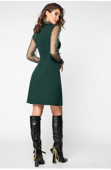 Изумрудное платье с фатином