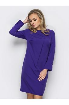 Фиолетовое платье с костюмной ткани