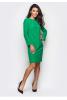 Зеленое платье с костюмной ткани - фото 2