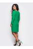 Зеленое платье с костюмной ткани - фото 1
