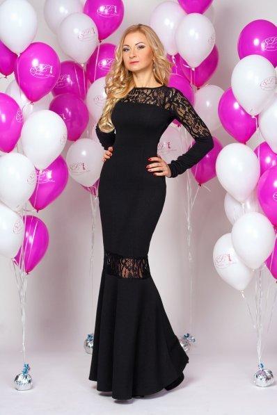 Роскошное вечернее платье черное