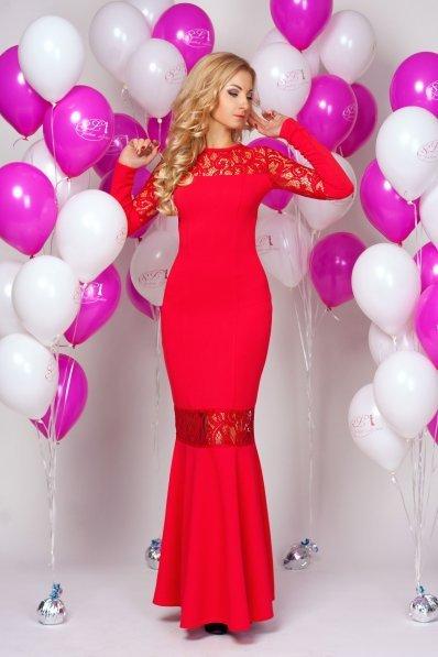 Роскошное вечернее платье красное