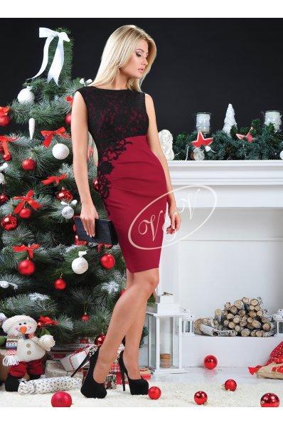 Роскошное нарядное платье с кружевом