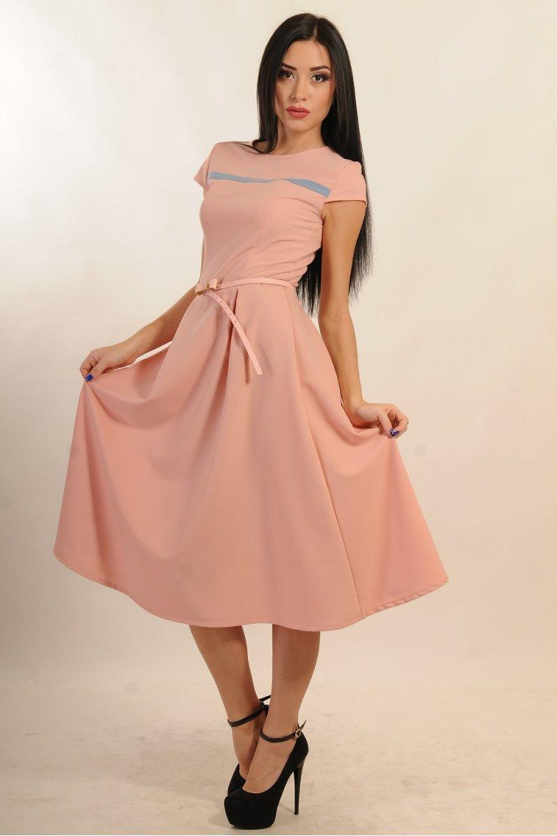 98cff26cd30149 Купити плаття - Елегантне рожеве плаття міді