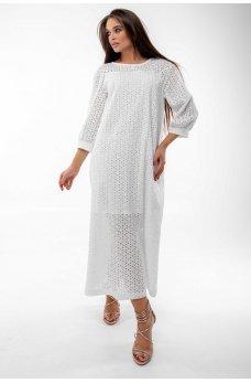 Белое воздушное летнее платье