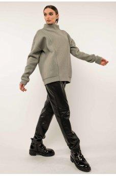 Фисташково-черный ультрамодный костюм