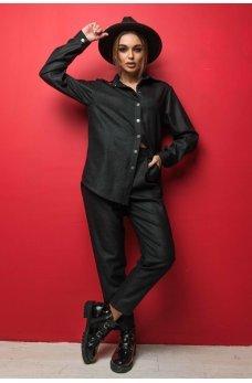 Черные оригинальные практичные брюки