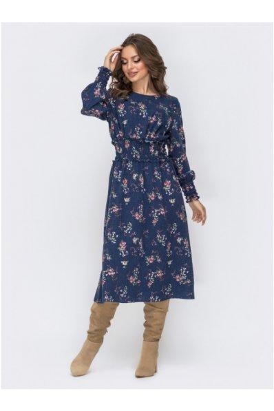 Расклешённое платье из костюмной ткани