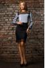 Серая блузка из шелка - фото 1