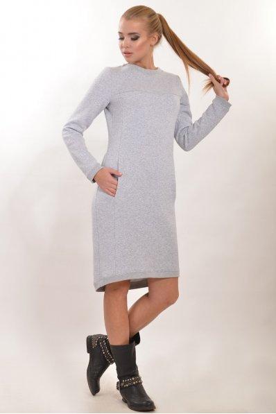 Теплое серое платье полуспорт