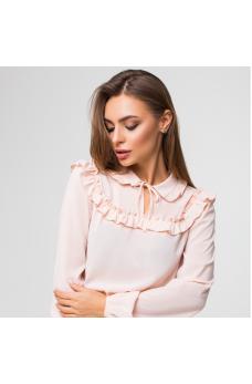 Шифоновая блузка пудрового цвета