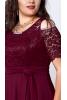 Шикарное бордовое платье в пол - фото 1