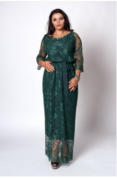 Шикарное гипюровое платье в пол
