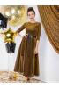 Шикарное нарядное платье в золотом цвете