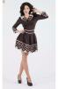 Шоколадное платье с кофейным воротником - фото 1